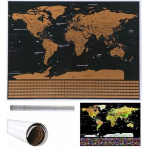 Скреч карта на Света за изтриване - Делукс