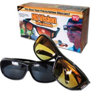 Очила за нощно виждане и мъгла HD Vision Wraparounds - 2 броя за шофиране